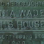 Ginnie Wade house plaque