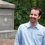 Garry Adelman at the 20th Maine monument