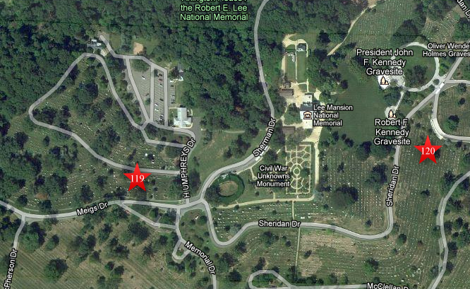 Washington DC Monuments Map Arlington Maps And Orientation - Arlington cemetery on us map