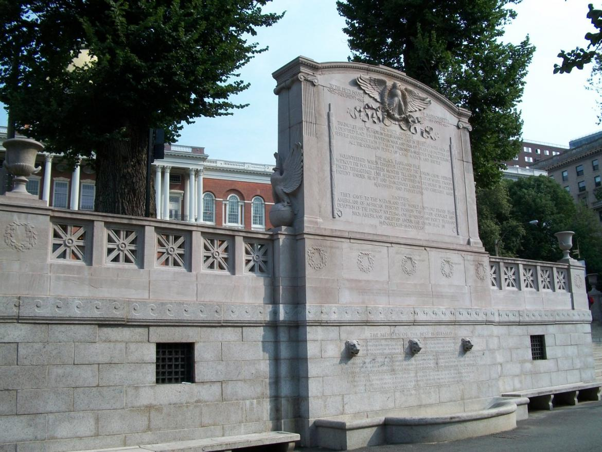North view of the memorial