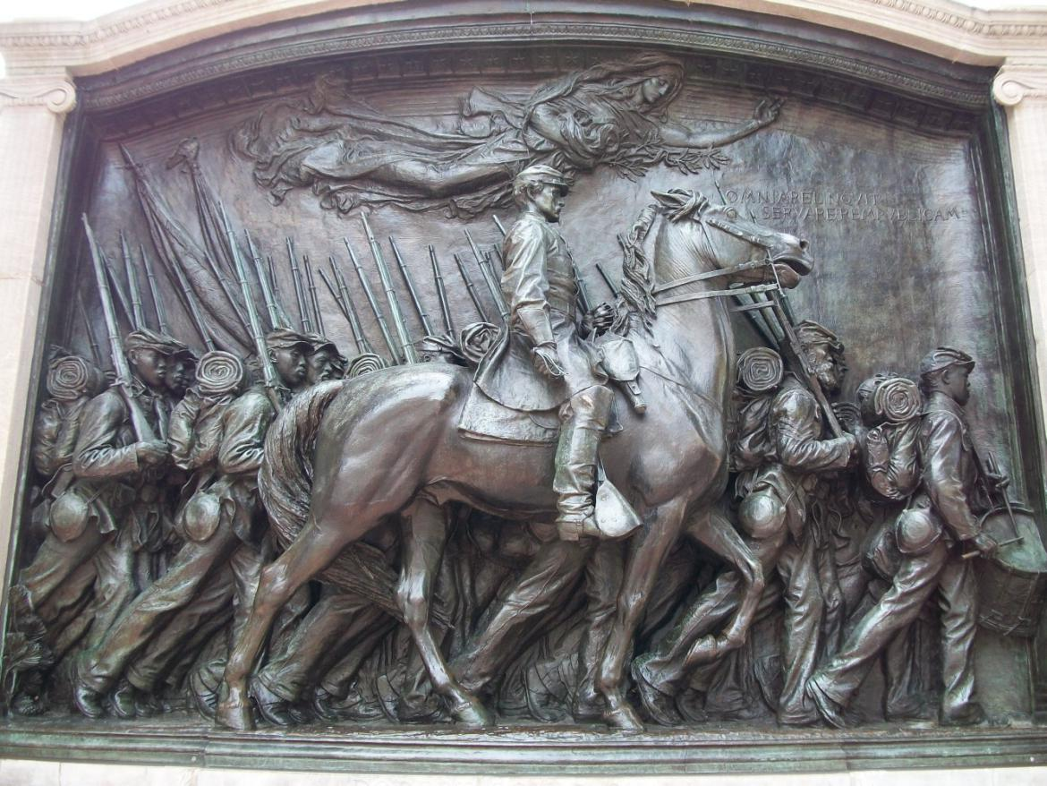 Front of 54th Massachusetts memorial