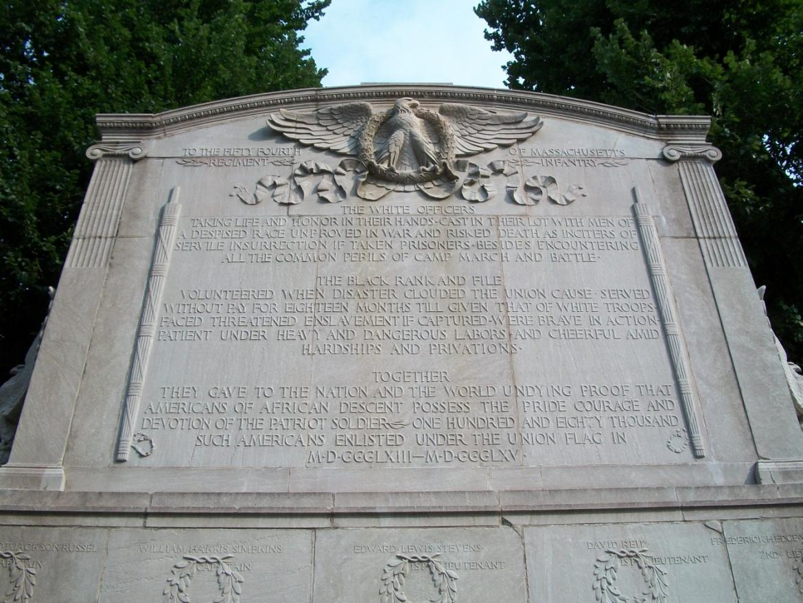 Back inscriptions on the memorial