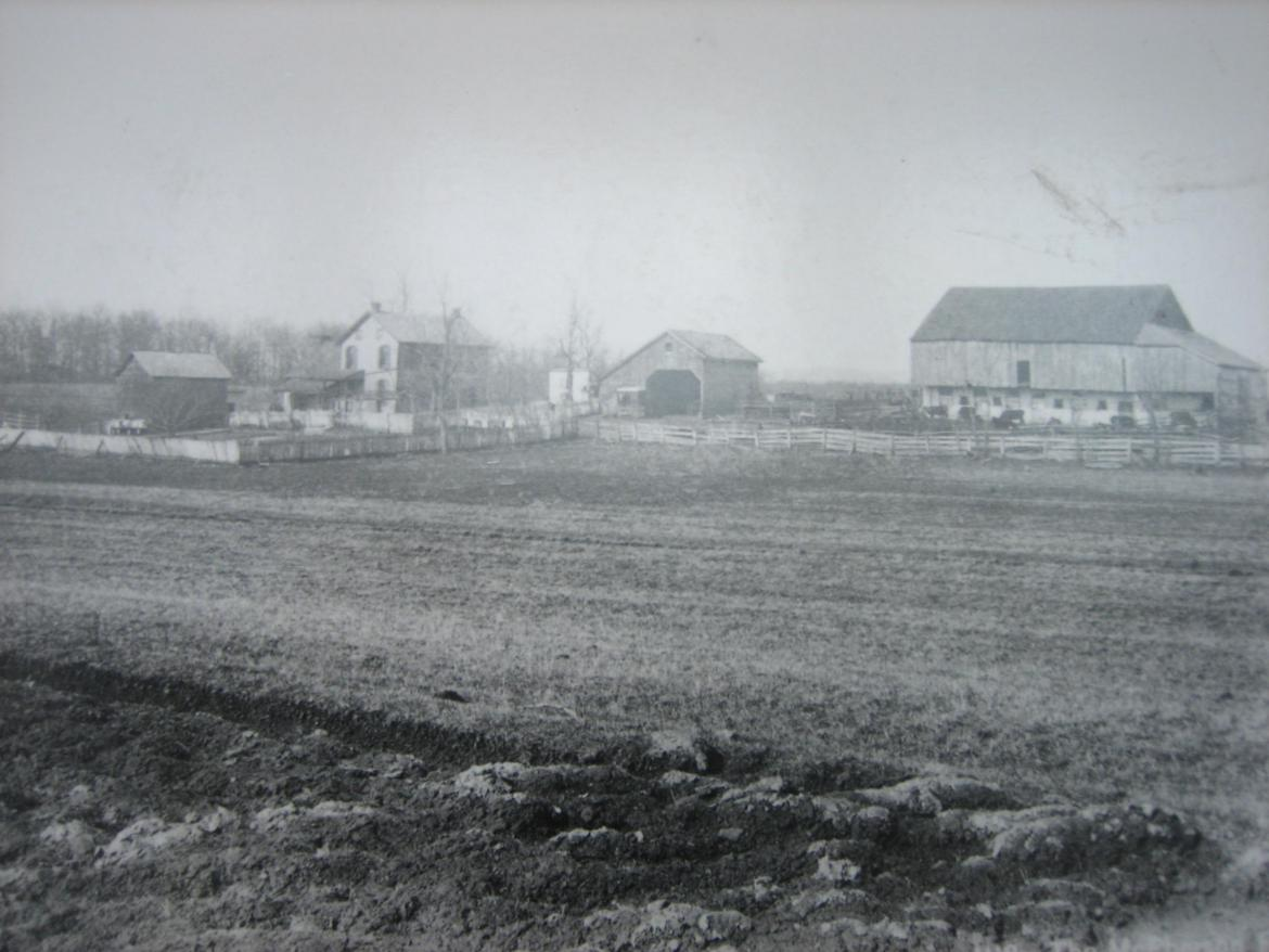 Historic photograph of the McPherson farm
