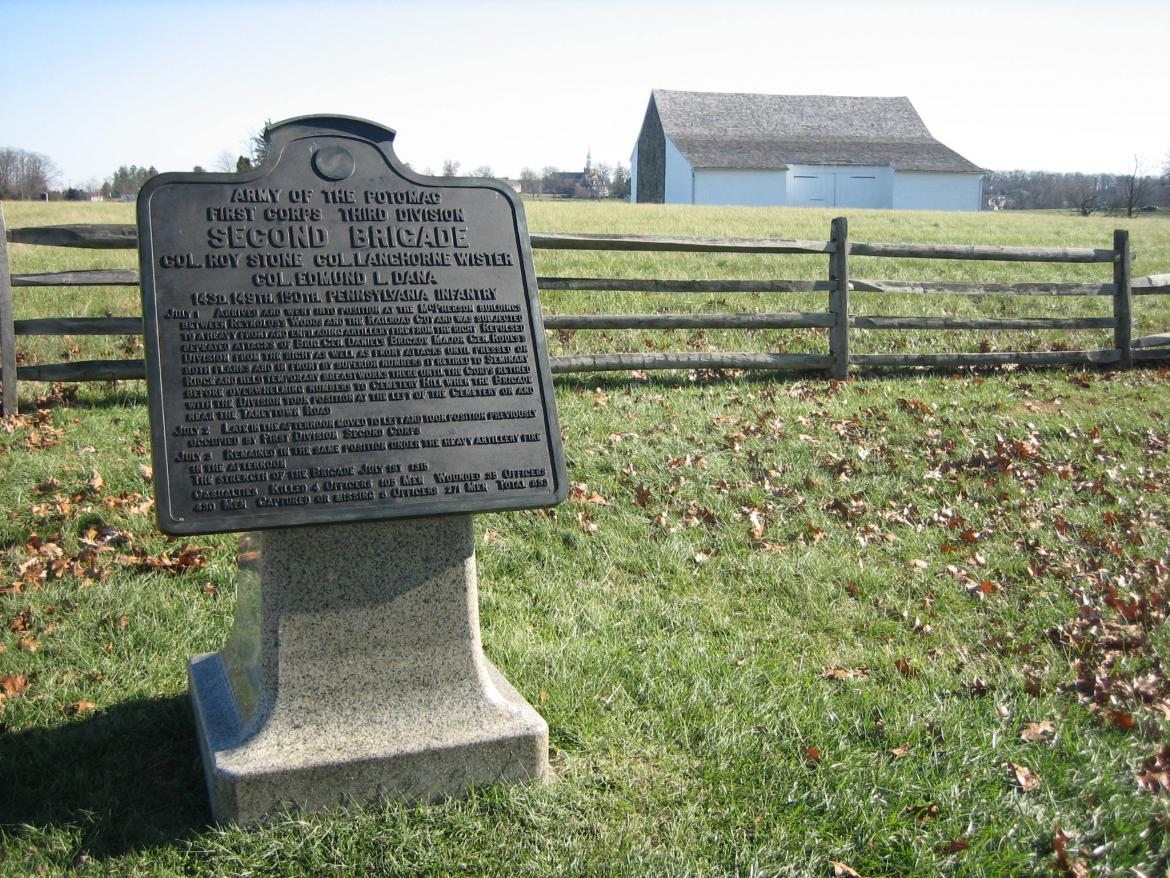 Second Brigade of the Third Division of the First Army Corps marker