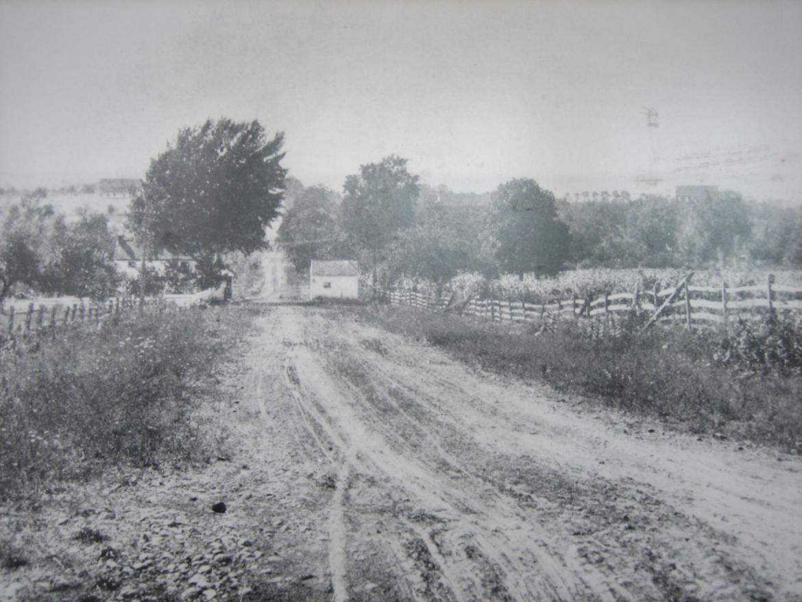 Historic photograph of where the 150th Pennsylvania charged