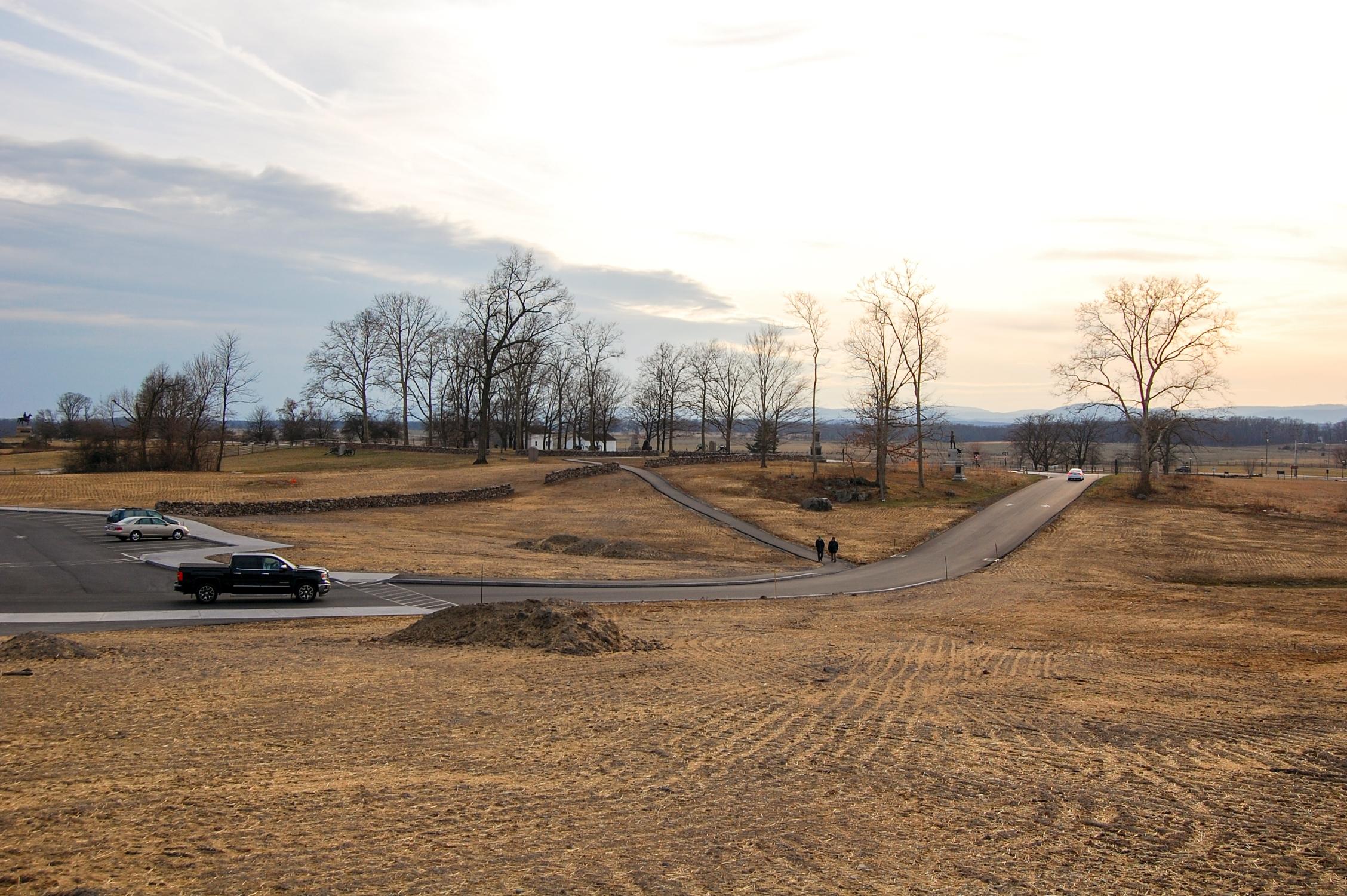 Stone Wall Progress Ziegler S Grove North Cemetery Ridge