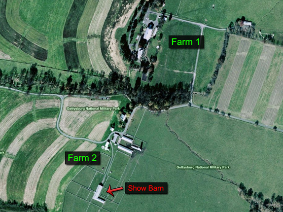 Aerial view of the Eisenhower Farm