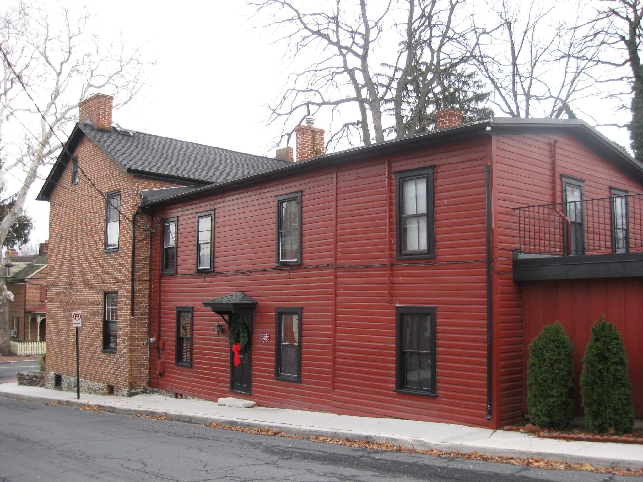 sweney house (farnsworth house) christmas decorations   gettysburg