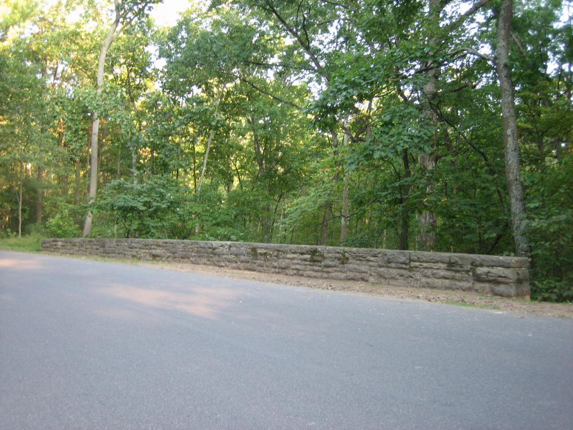 South side of the stone bridge