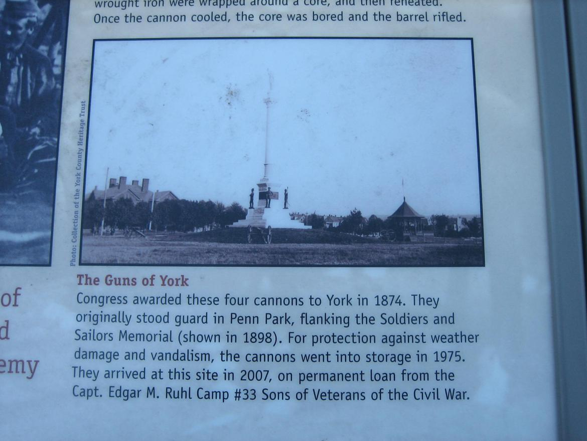 Close-up on 'The Guns of York'