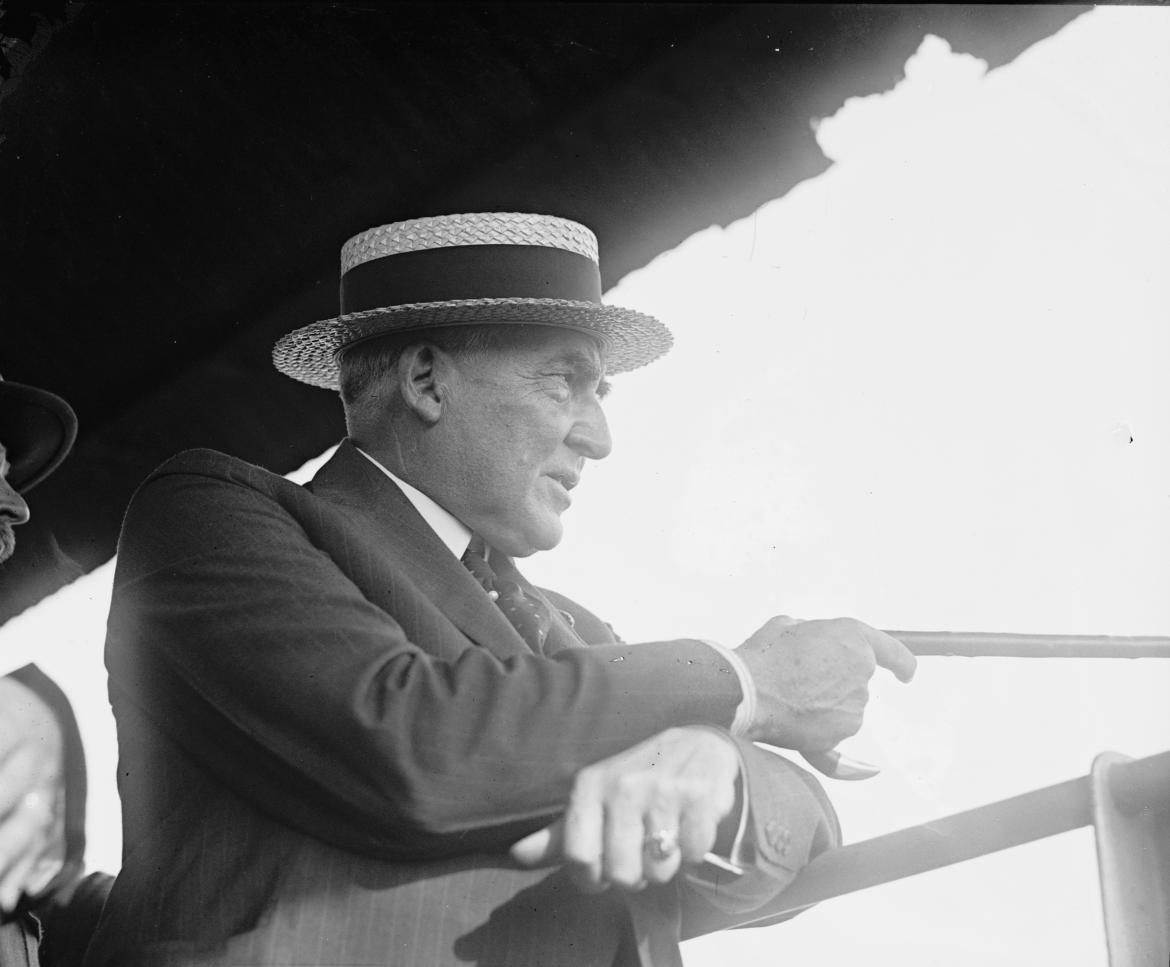 Warren G. Harding watches Pickett's Charge