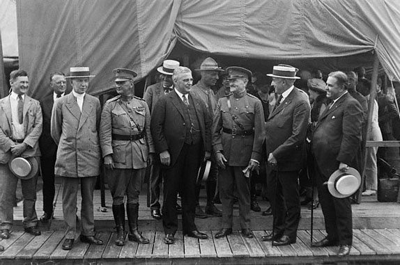 Dignitaries at Camp Harding