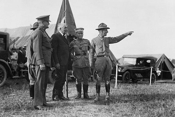 Generals with Warren G. Harding
