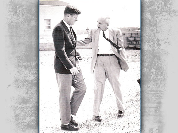 Colonel Sheads and President Kennedy