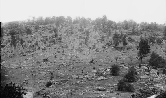 Historic photograph of Little Round Top