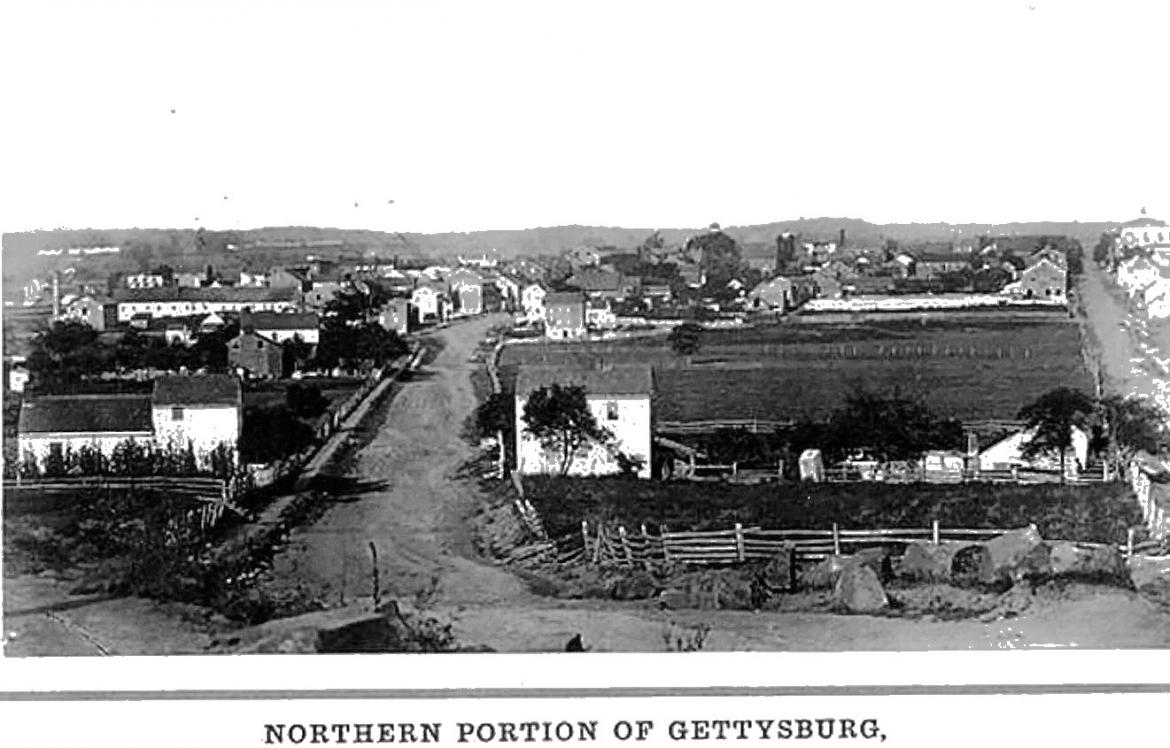 1863 Borough of Gettysburg photograph