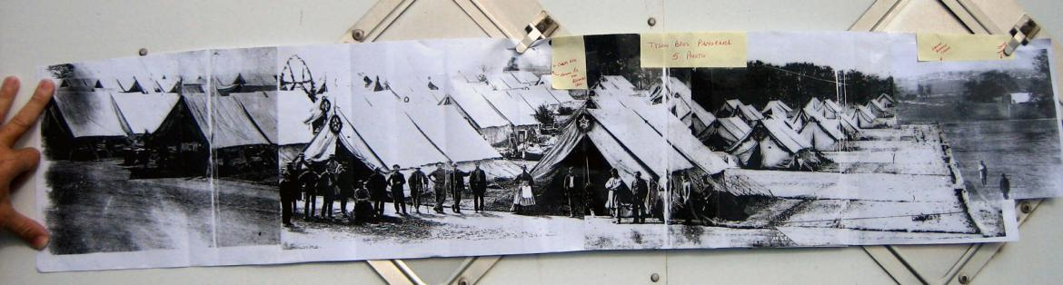 Taped panorama of Camp Letterman