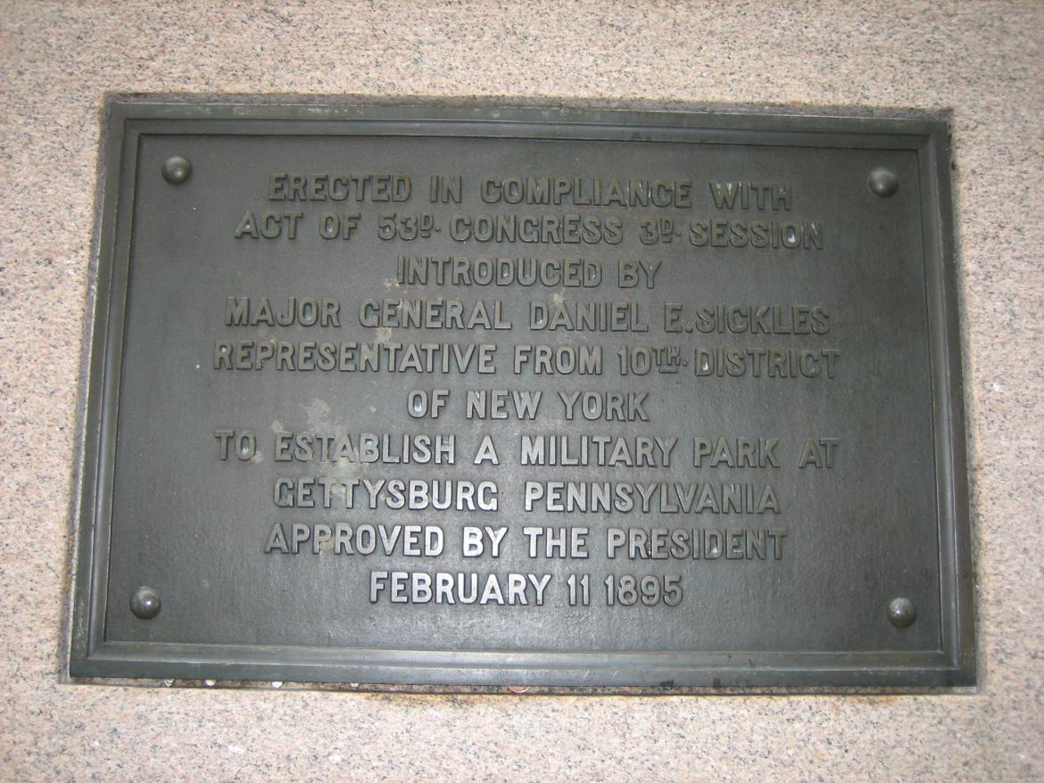Rear plaque on the memorial