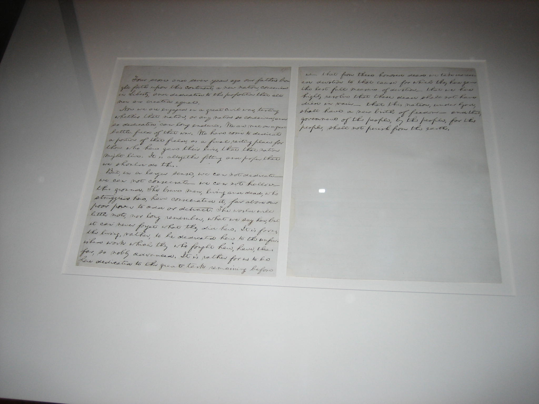 Edward Everett S Copy Of Abraham Lincoln S Gettysburg