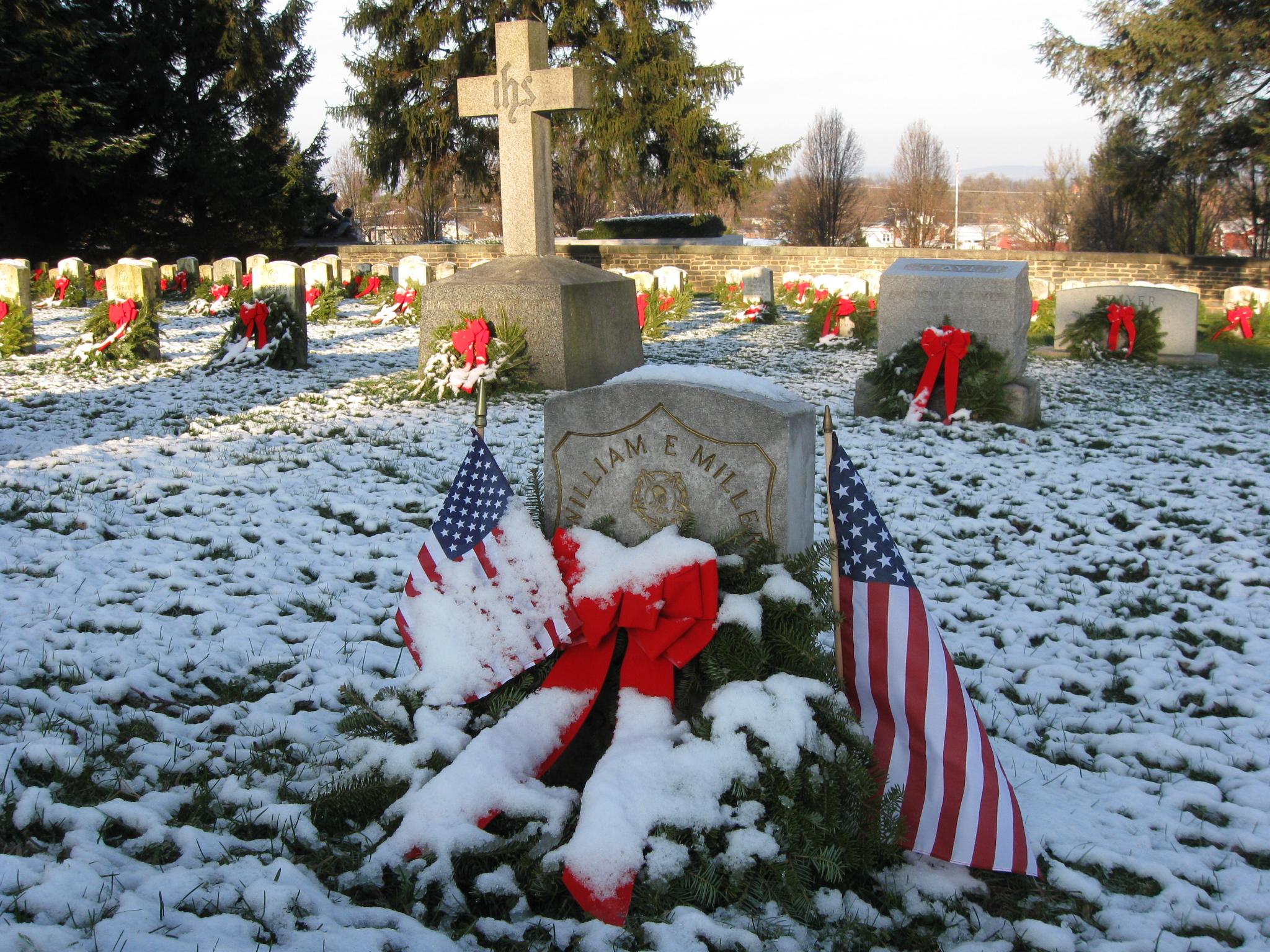 Gettysburg Soldiers National Cemetery Christmas Wreaths