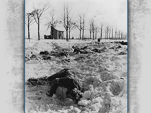 Bodies at Malmedy Massacre