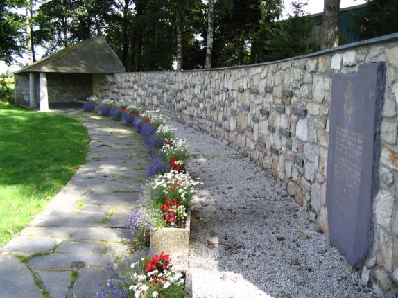 Memorial wall at the Baugnez crossroads