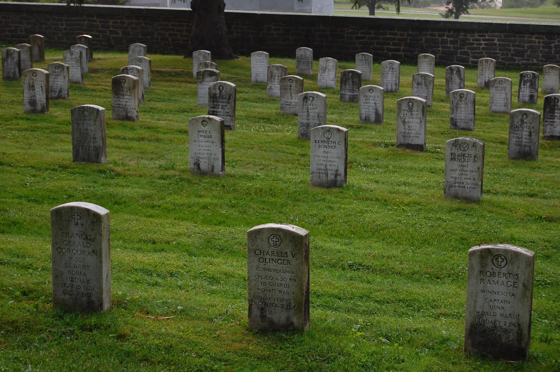 Soldiers National Cemetery Headstone Cleaning Gettysburg