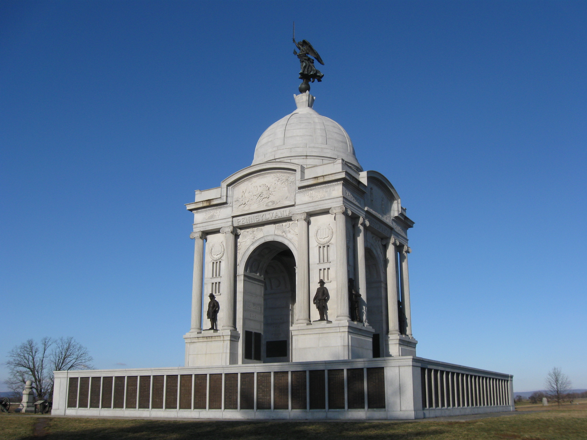 Pennsylvania State Monument The South Side Gettysburg Daily
