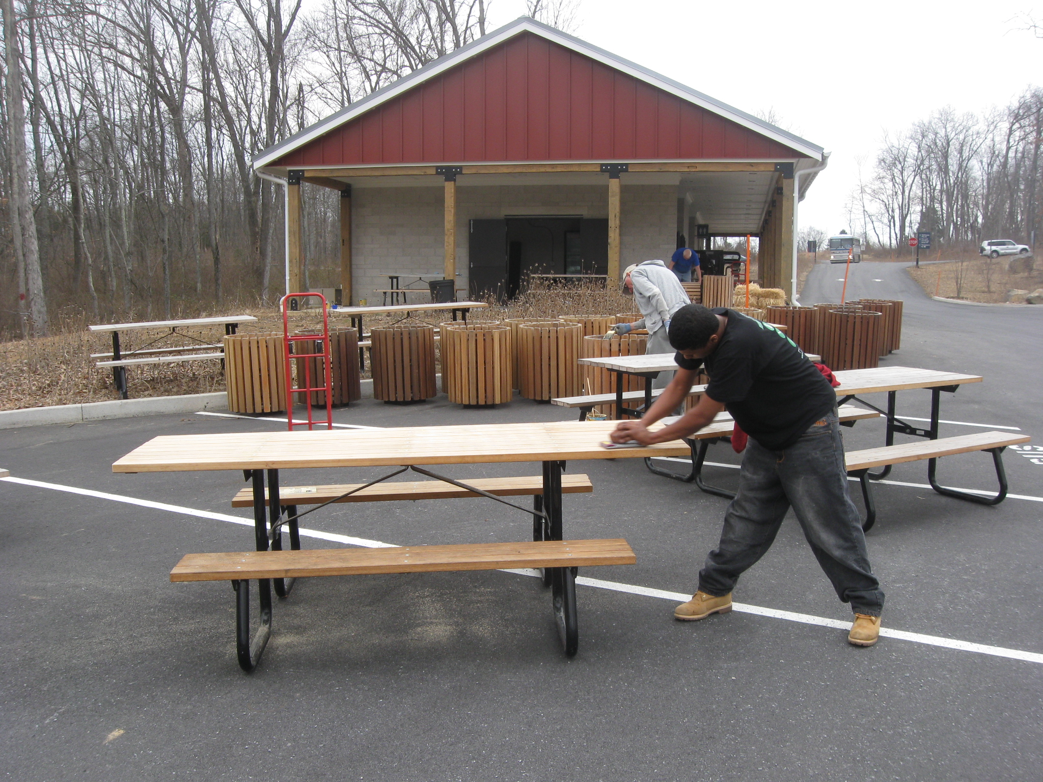 Visitor Center Parking Lots Picnic Area Preparation Gettysburg Daily - 12 person picnic table
