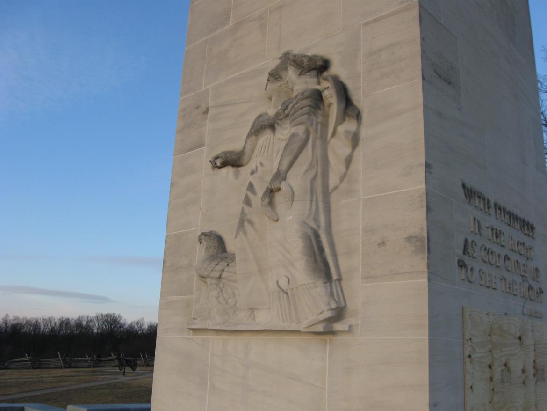 Vandalism on the ornamentation