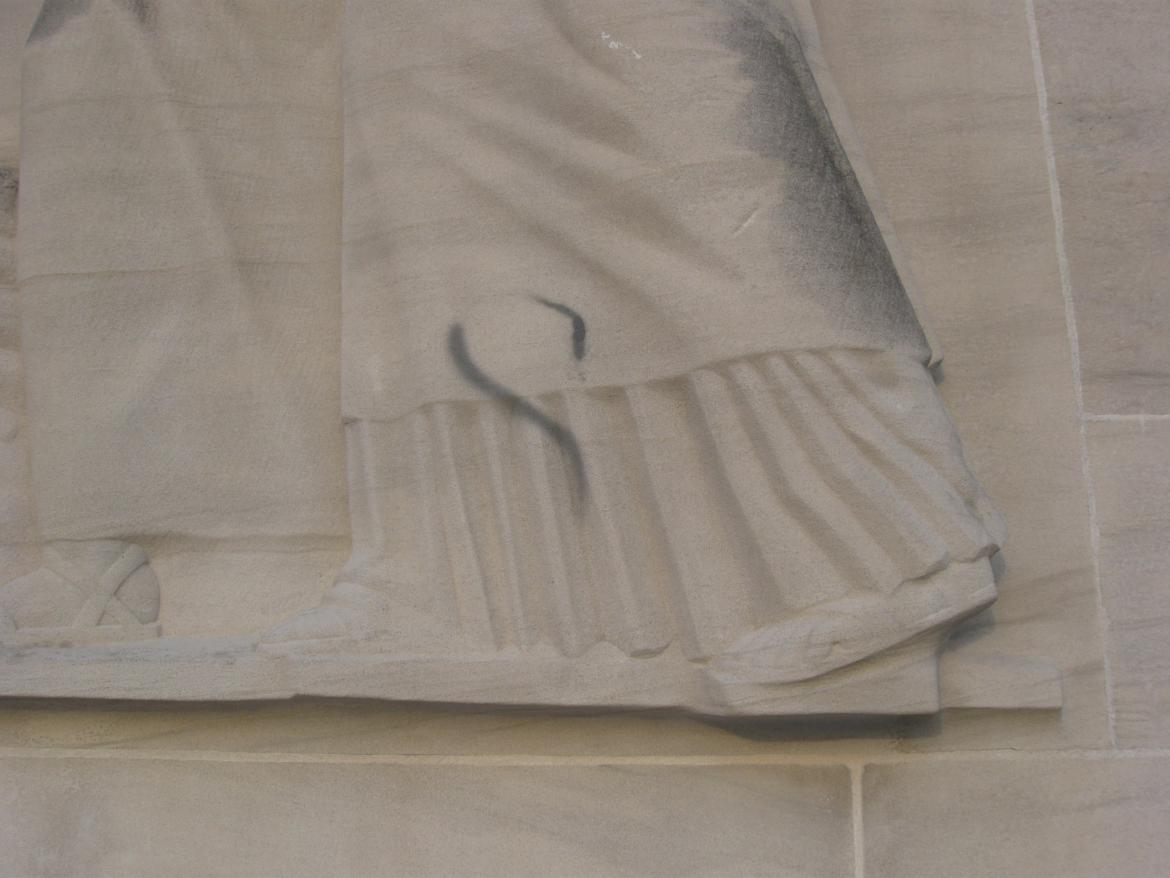 Close-up of vandalism