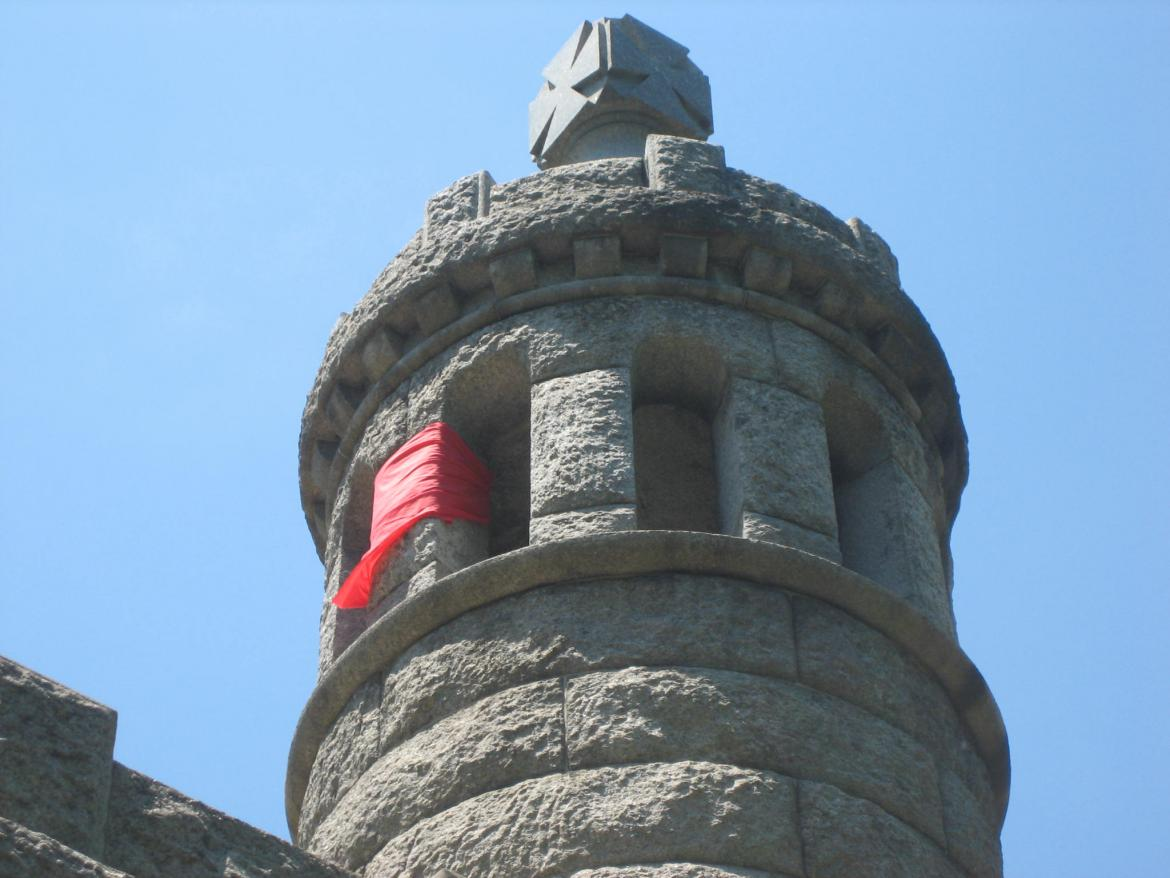 Vandalism on the 44th New York monument