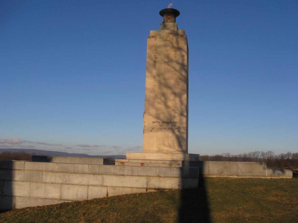 West view of the Eternal Light Peace Memorial