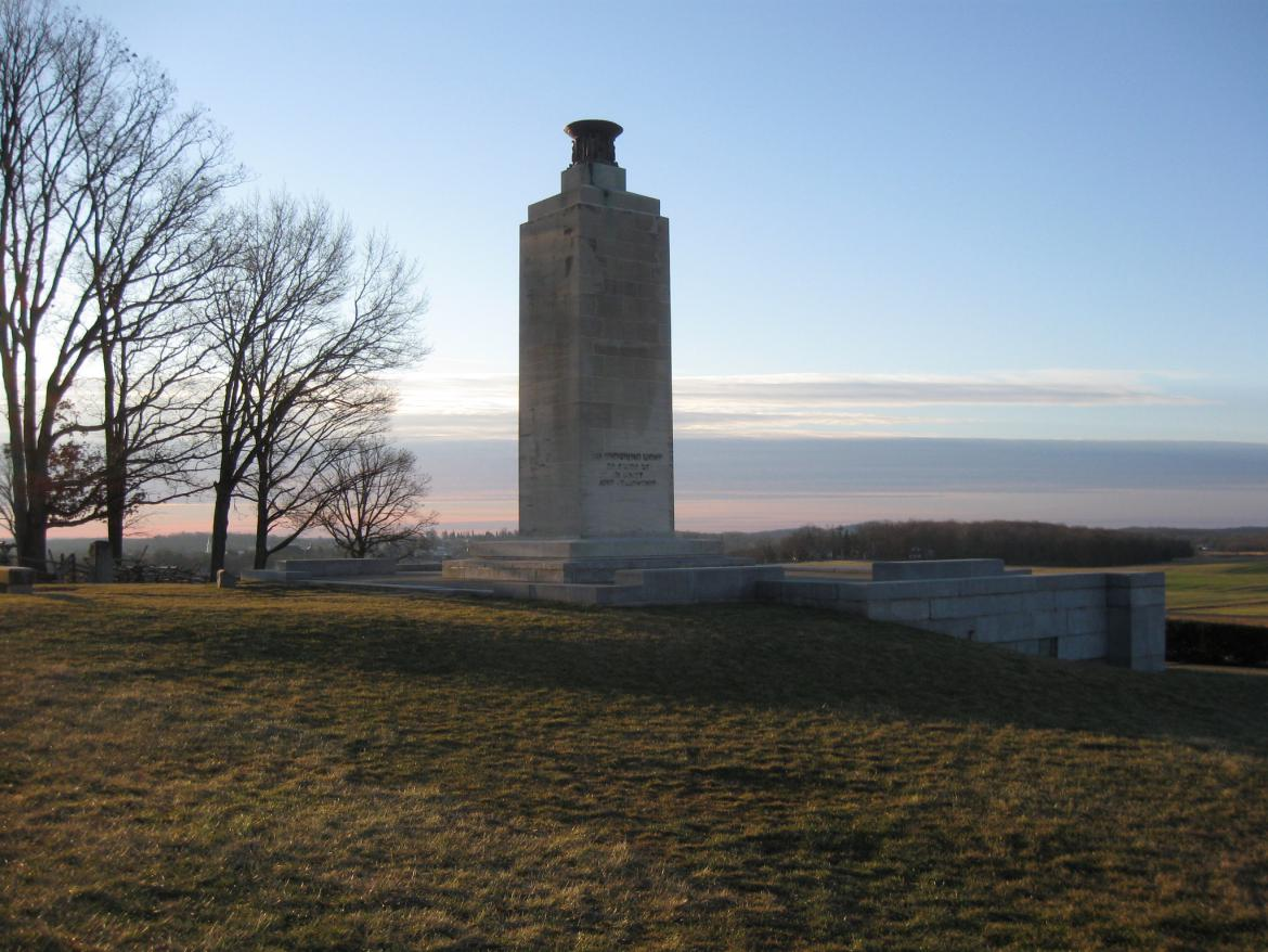 Southeast view of the Peace Light monument