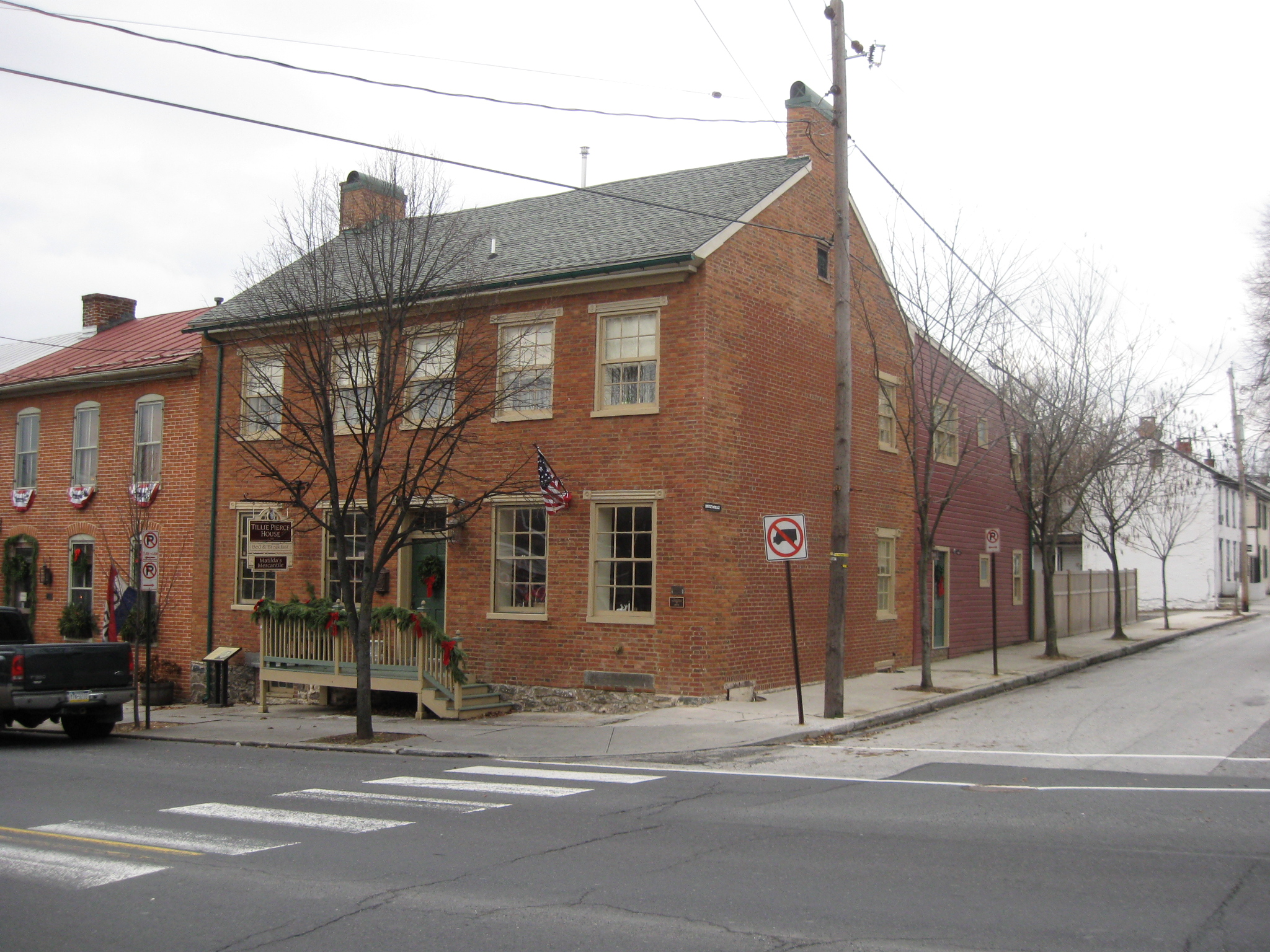Superior The James Pierce House Is Located On The Southwest Corner Of Baltimore And  Breckinridge Streets. It Was A House And The Location Of The Butcher Shop  In The ...