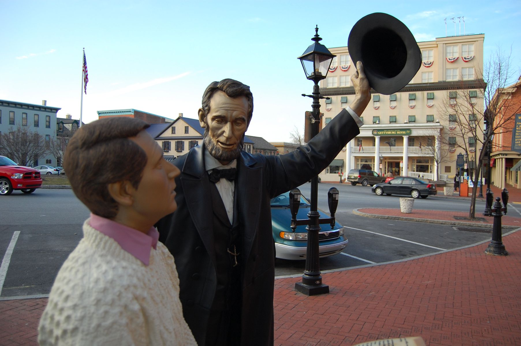 Lincoln Statue On Gettysburg Square Restored And Returned