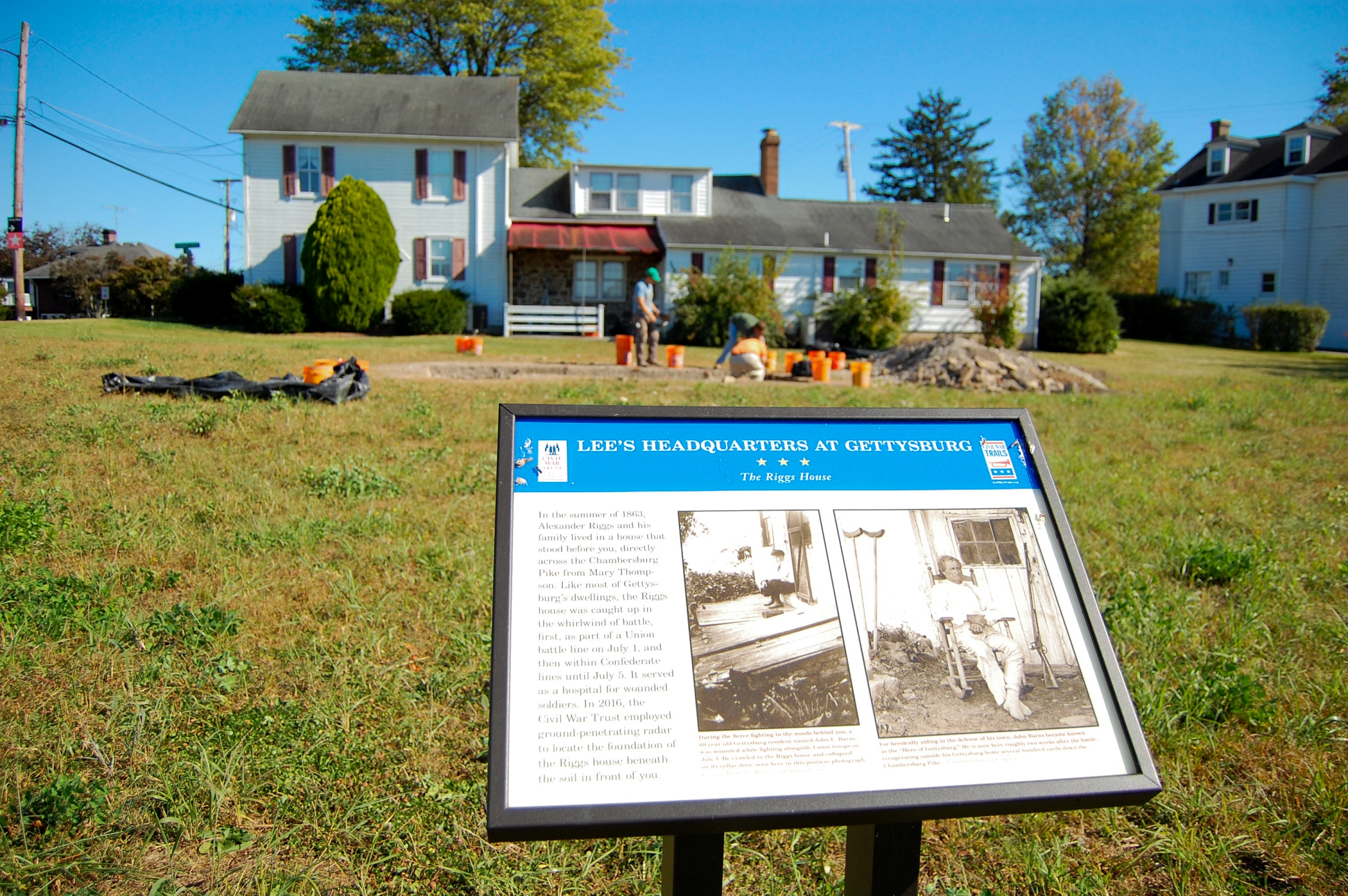 The archaeological dig taking place at the foundation of the Alexander Riggs House is a partnership between the Adams County Historical Society ... & The Alexander Riggs House: John Burns and the Cellar Door ...