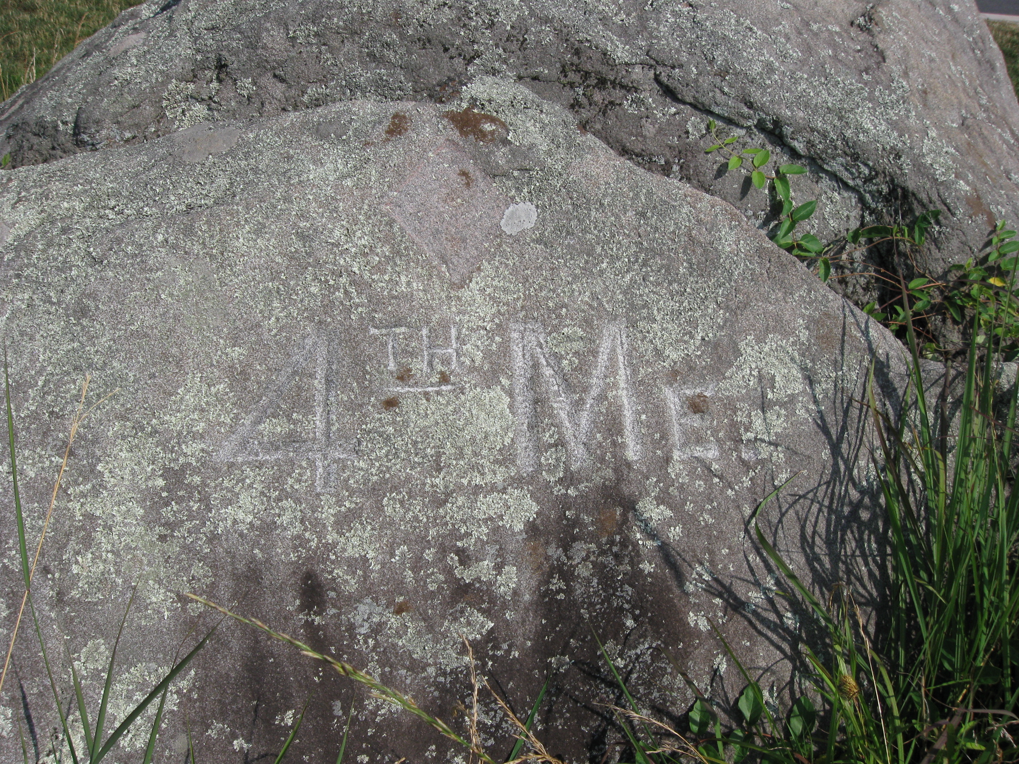 Gettysburg rock carvings with licensed