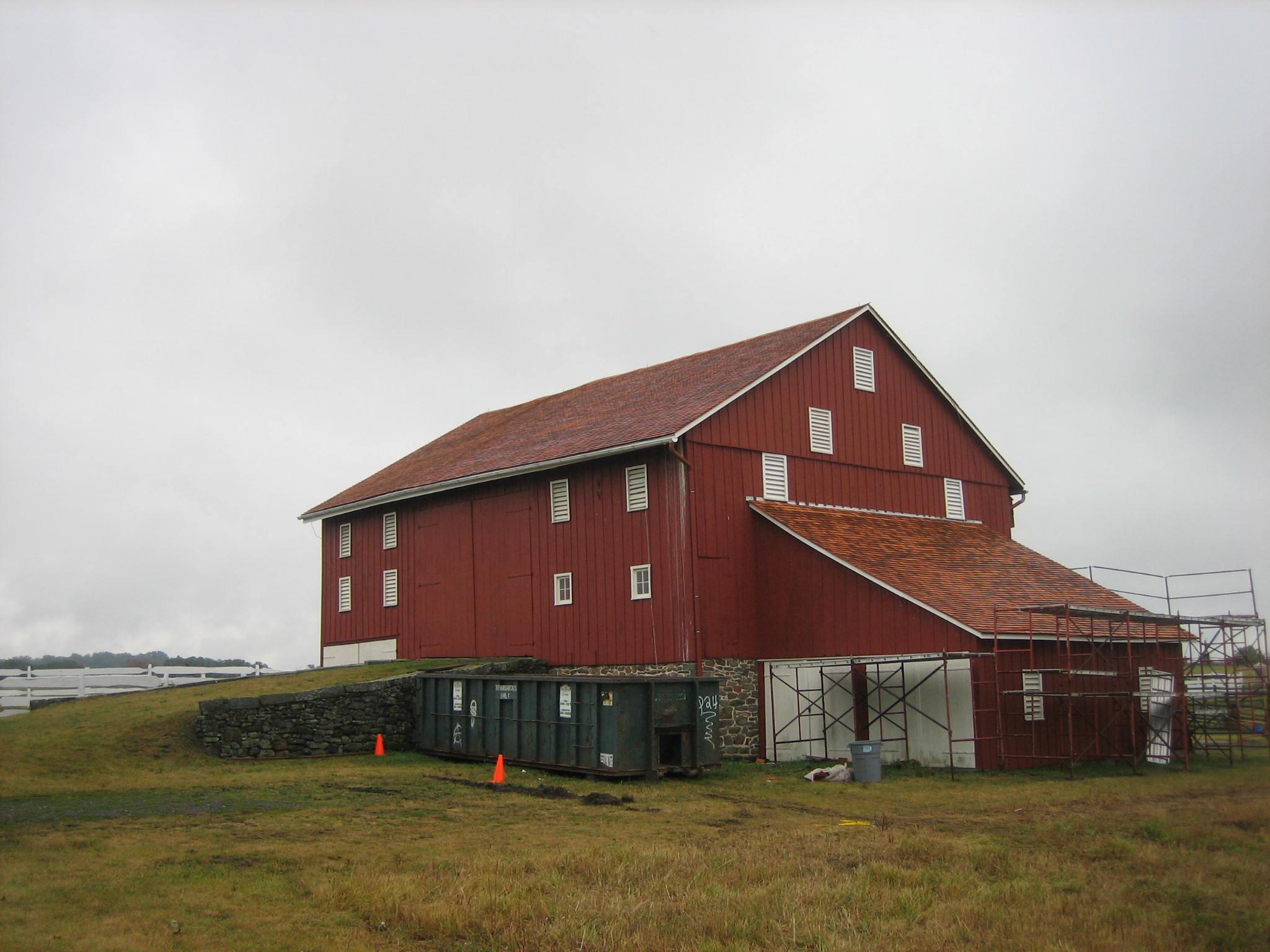 Joseph Sherfy Barn Roof Replaced Gettysburg Daily