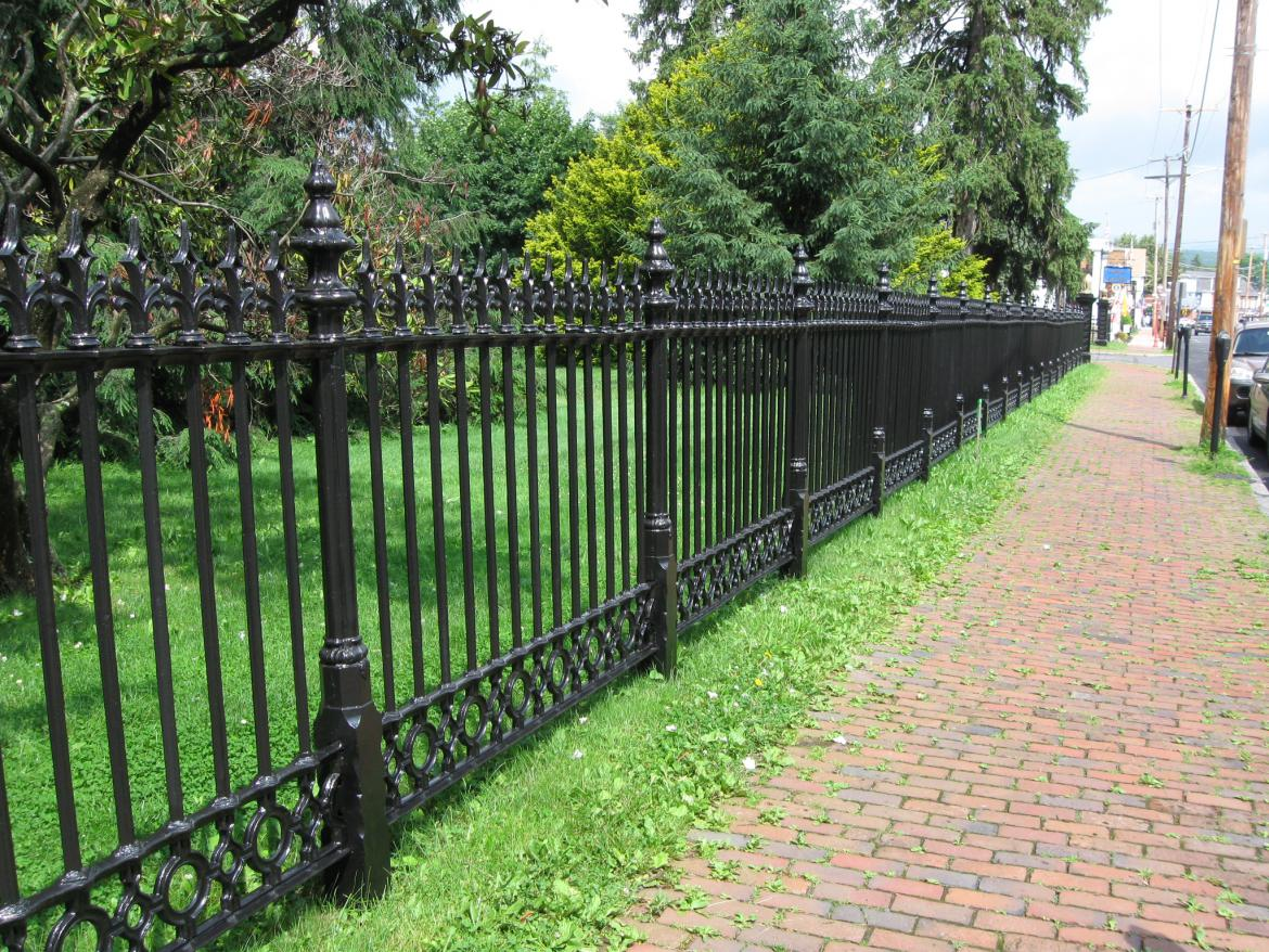 Gettysburg National Cemetery Fence And Sickles Witness
