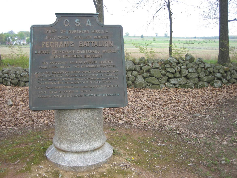 Pegram's Battalion marker