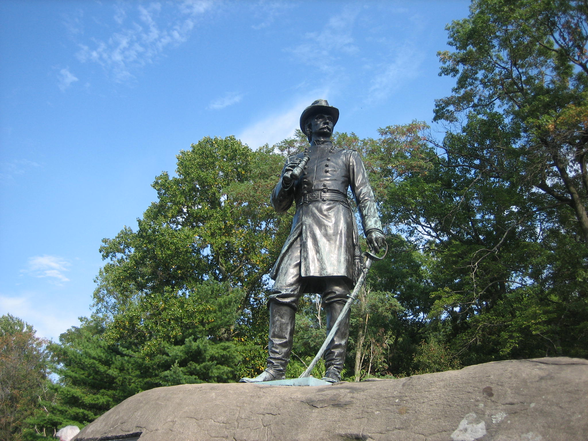 Warren Statue It S Not Easy Turning Green Gettysburg Daily Son of geese howard, raised by terry bogard after he had killed geese. gettysburg daily