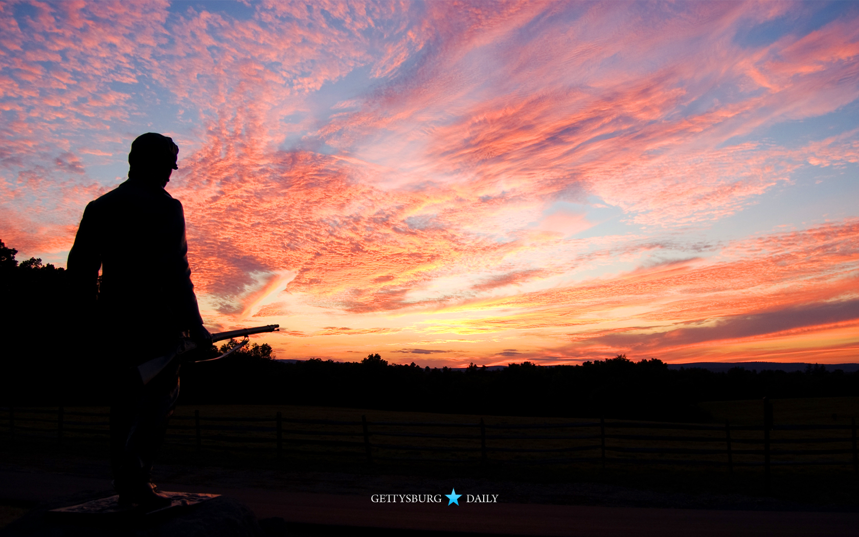 Early Morning At The Wheatfield Gettysburg Daily