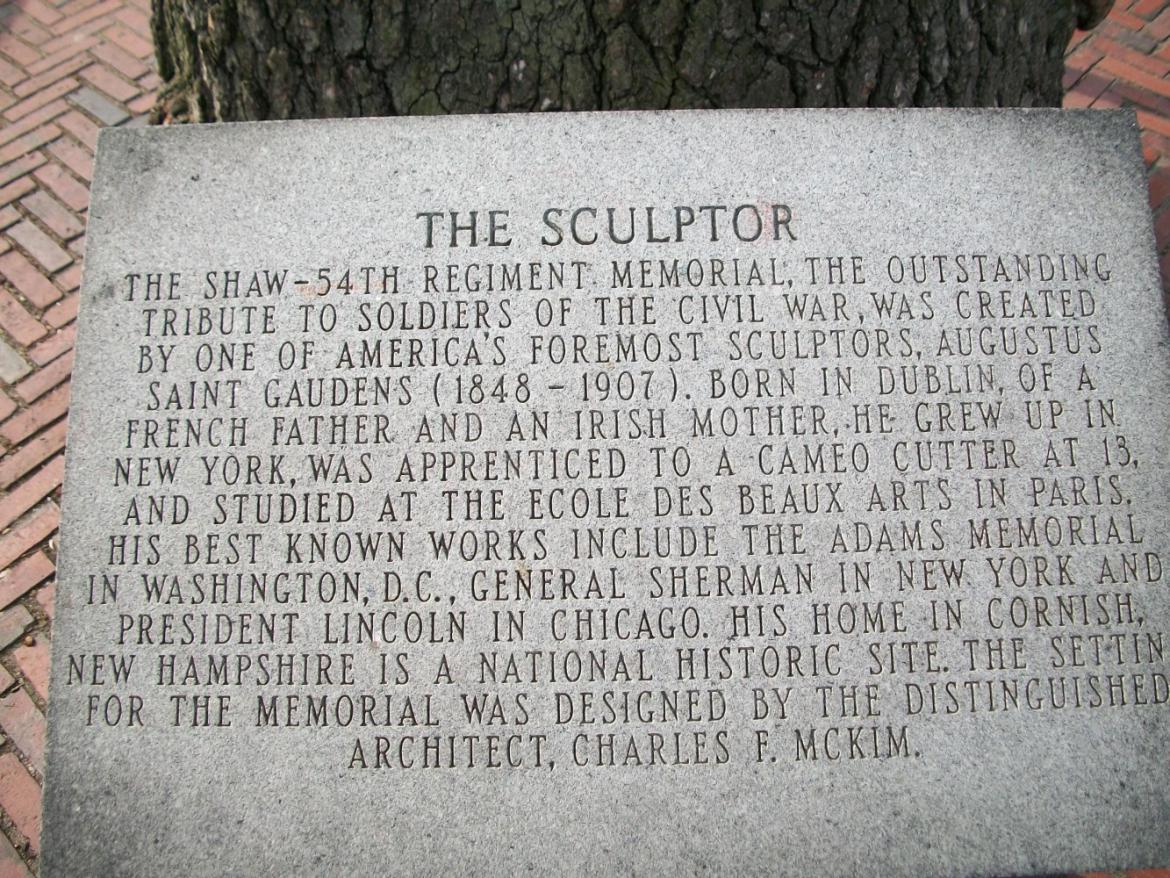 Marker to the sculptor