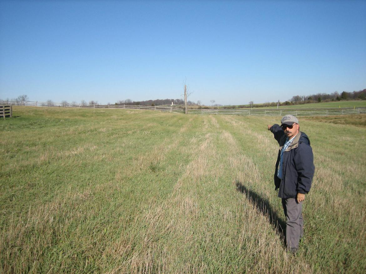 Showing where Confederate artillery would appear