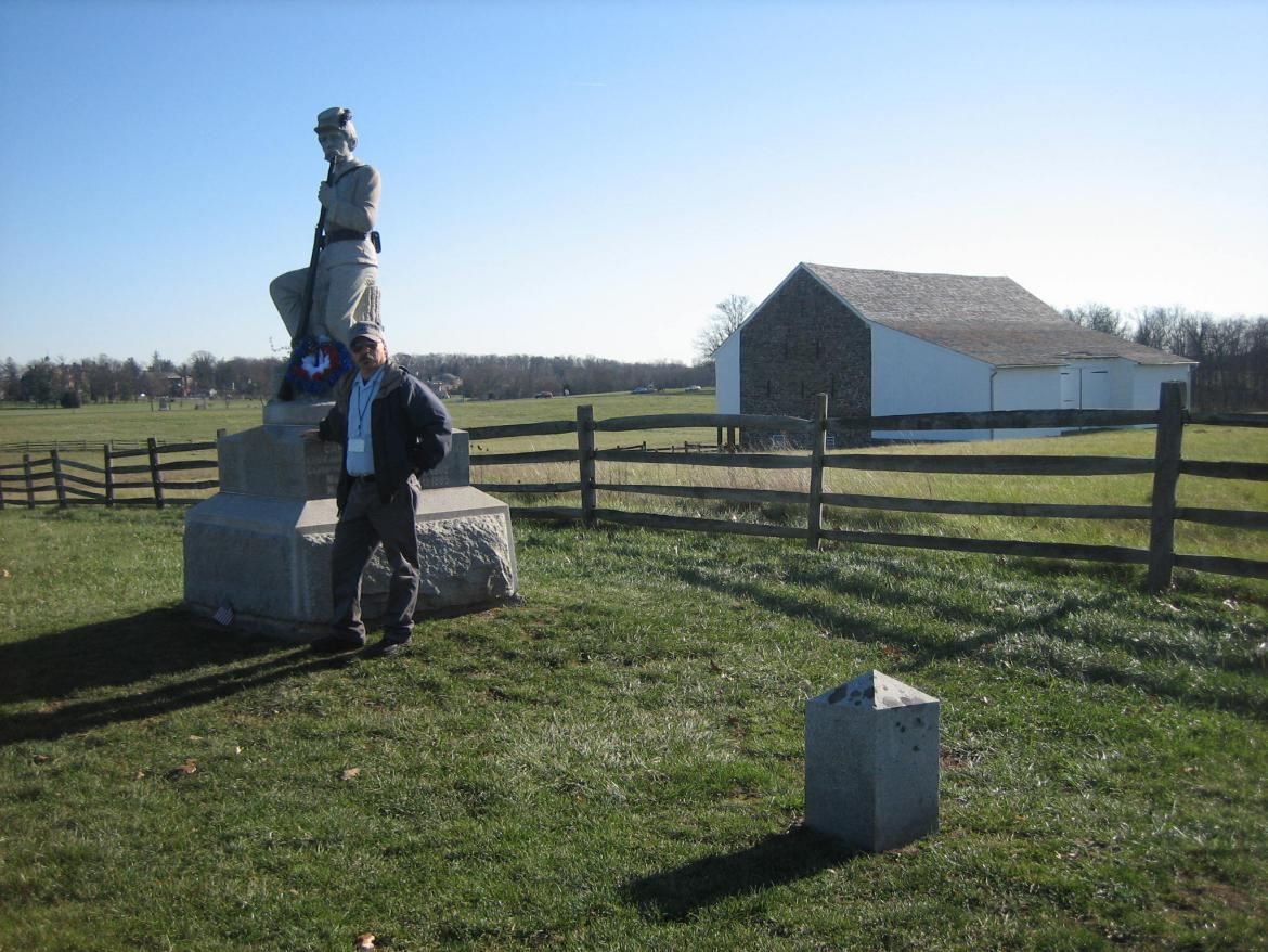 Rich and the 149th Pennsylvania monument