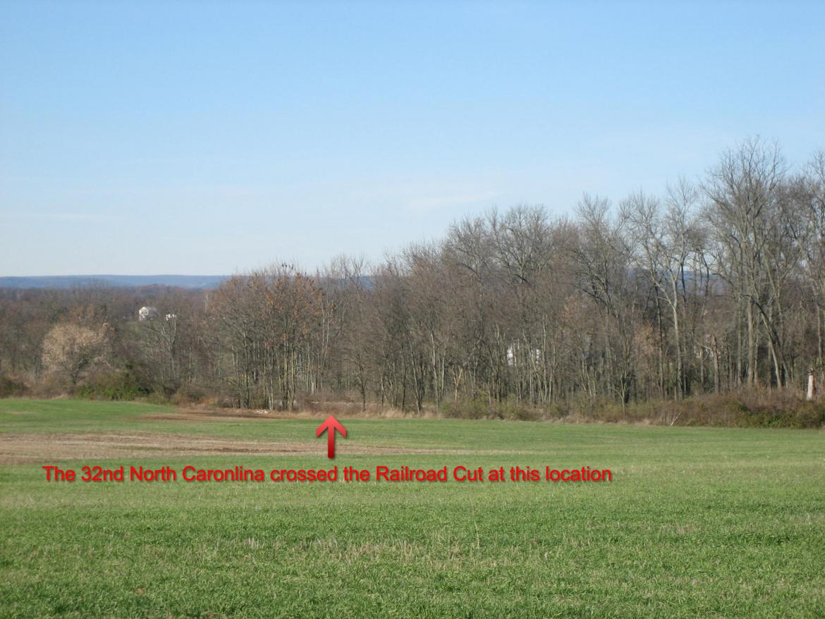 Location of the 32nd North Carolina's crossing