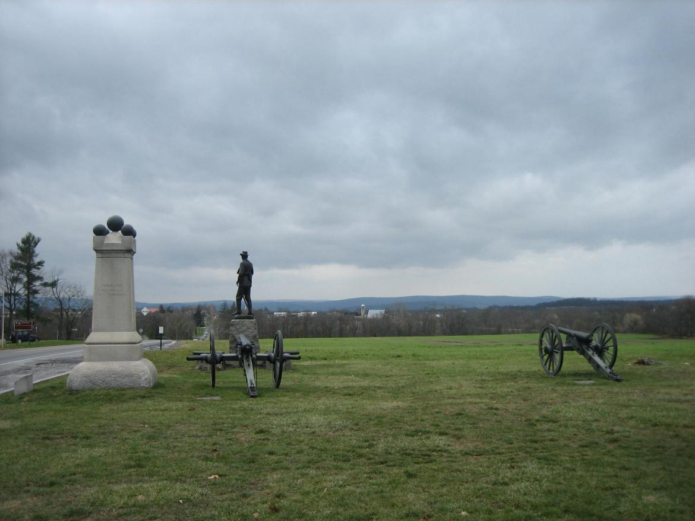 The western arm of McPherson's Ridge