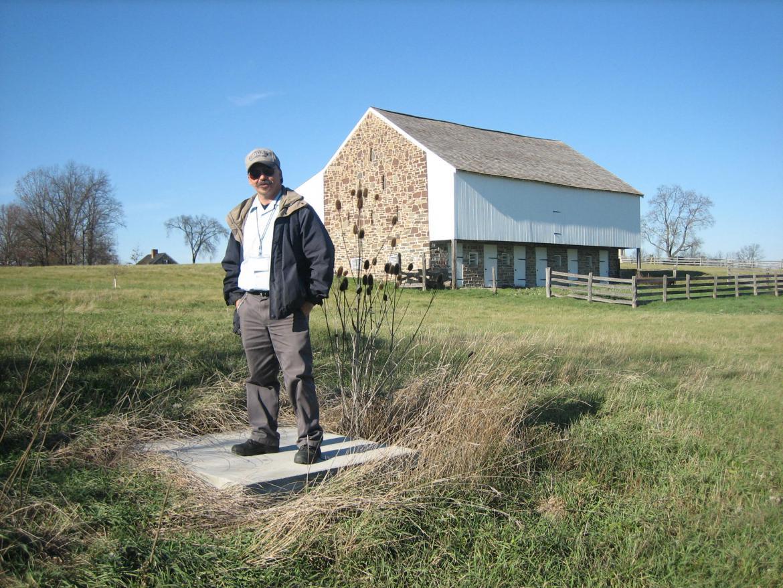 Rich Kohr on the McPherson Farm well