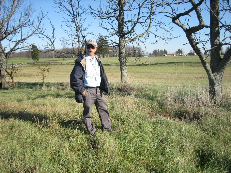 Rich Kohr on the farm's property
